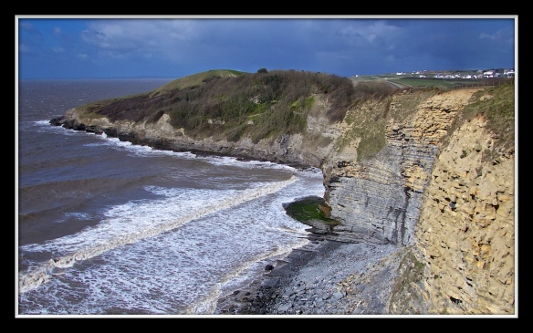 Dunraven Bay on a windy March day