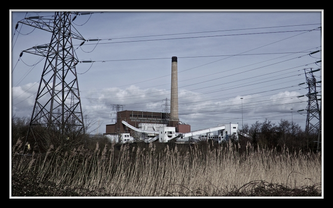 The coal power station which was responsible for creating the ash pans on which the reserve is founded.