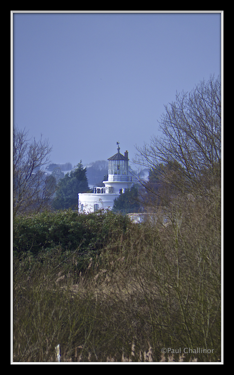 West Usk Lighthouse on the other side of the Usk River. Now a bed and breakfast.