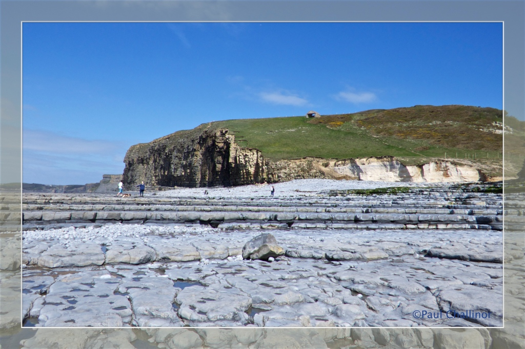 Limestone pavements at Cwm Nash Beach