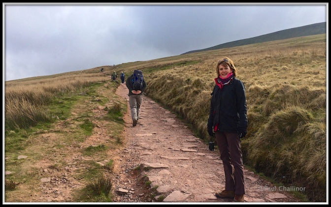 That's me just ahead of Aunty staggering up the high like Sherpa Tenzing carrying the supplies.