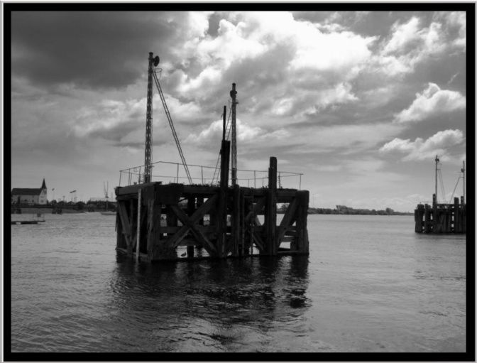The old dock piers are still great features and reminders of the old docks.