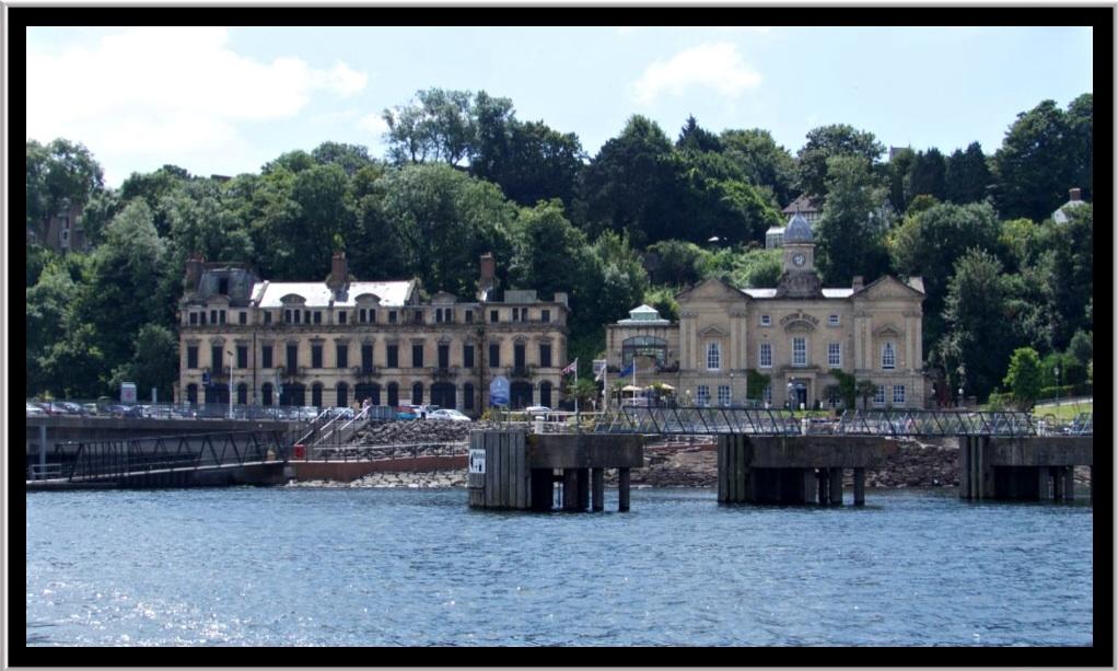 Looking back towards the customs house at Penarth Marina.