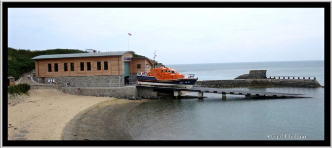 The new life boat station at Porthdinllaen.