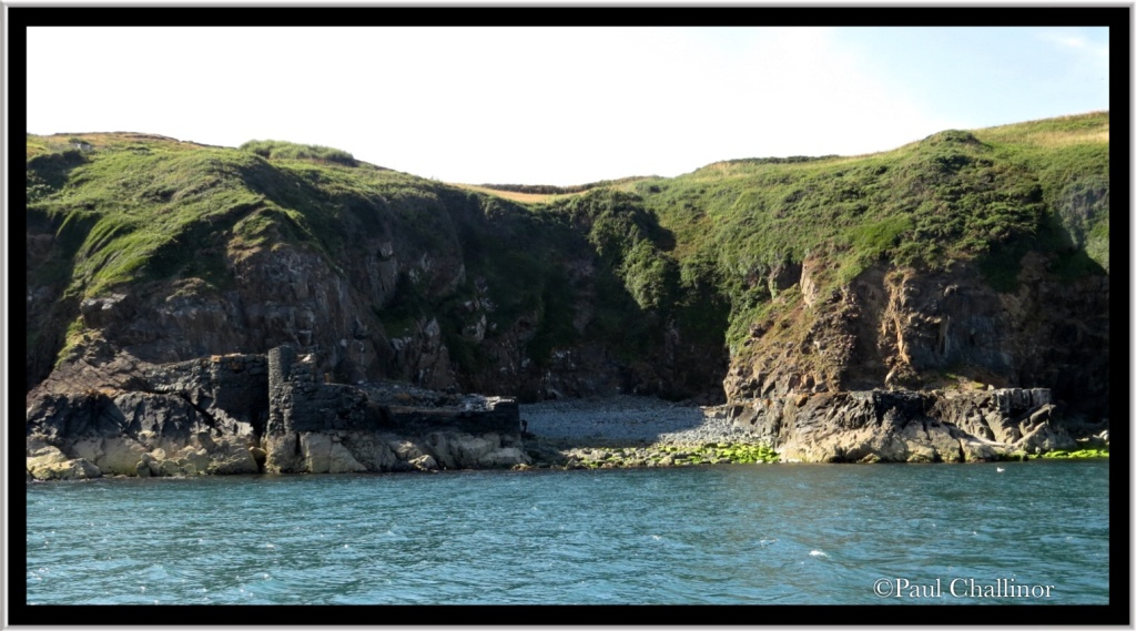 Porth y Pistyll from water level.