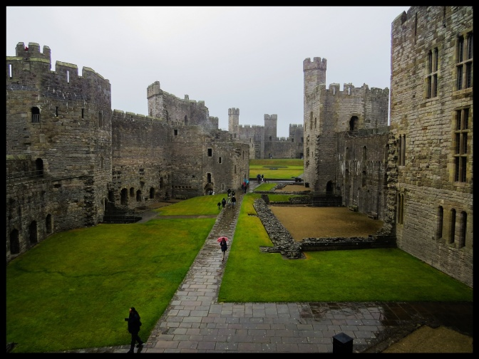 Looking across the inner courtyard emphasises the size of the castle.