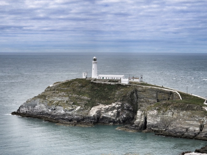 South Stack Lighthouse from the South.