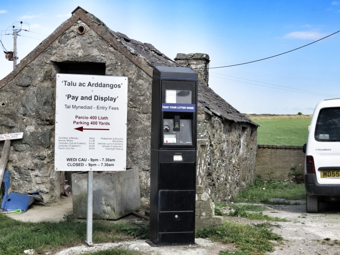 You don't often find a parking ticket machine in a farm yard.