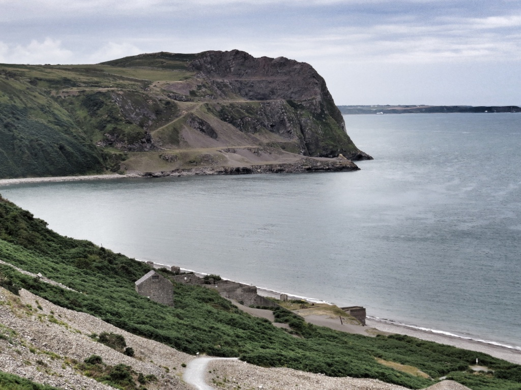 Looking towards a second quarry further along the Coast.