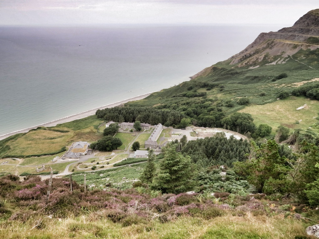 Looking down onto Nant Gwrtheyrn from the top.