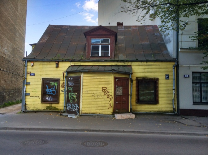 There are wooden houses all over Riga, dotted around between newer and larger stone and brick buildings. Each corner you turn there is a surprise waiting for you.