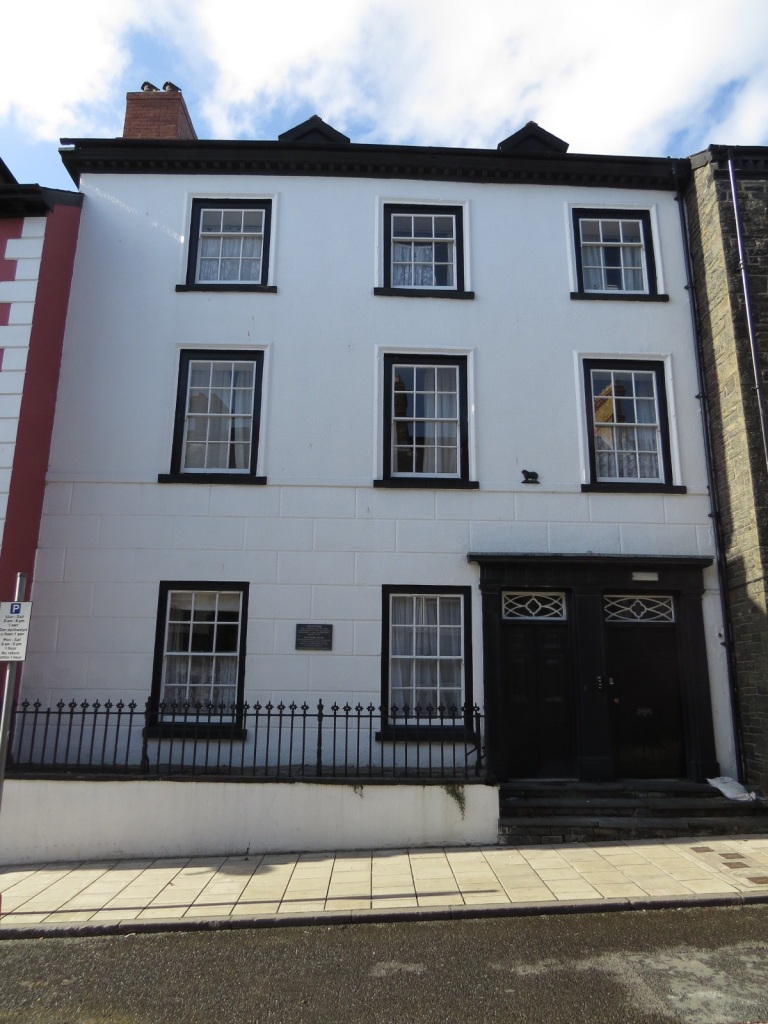 After kicking the bar we wondered around the back streets. This house, Yr Hen Dy Banc ( The Old Bank House) opened as the first bank in Aberystwyth, and possibly Wales, in 1760. Known as the Ship Bank it served the shipping community in Aberystwyth.