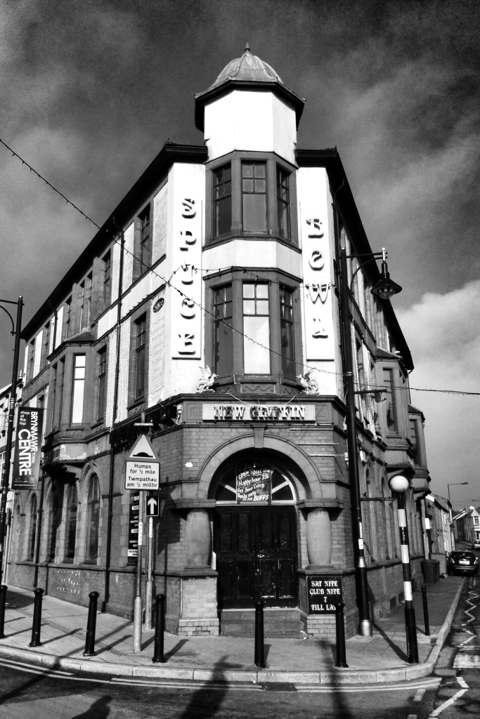 """The Space Bowl or New Griffin may have seen better days, but Saturday night is still """"Club Nite"""".  Unfortunately the state of the building opposite the cinema is a reflection of the state of the town."""