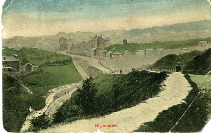 A postcard showing Brynmawr around 1900 (1).