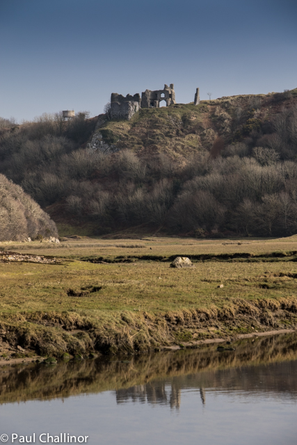 Over looking the bay is Pennard Castle, perched on the edge of the valley of the Pennard Pill, with a sheer drop below to the north and west. It was a perfect position for a castle, except for one thing which cannot have been foreseen when it was built: it was vulnerable to sand blow. By the end of the 14th century sand encroachment had led to its abandonment.