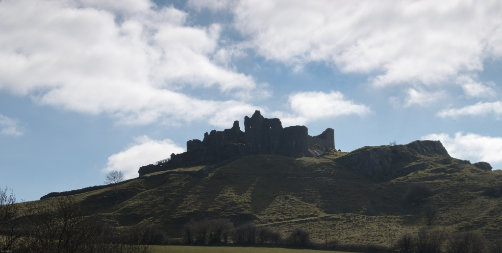View of the Castle from the North. This is the easiest access, but still a bit of a puff to get to the top.