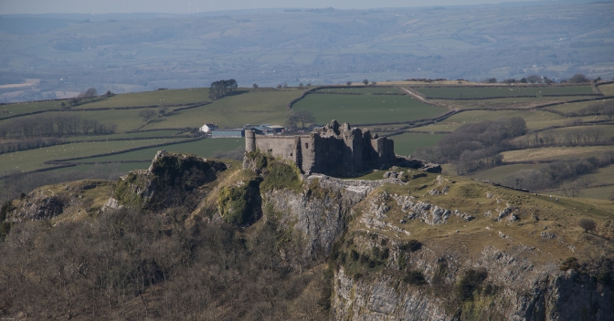 Another view of the castle from the mountain road to the south.