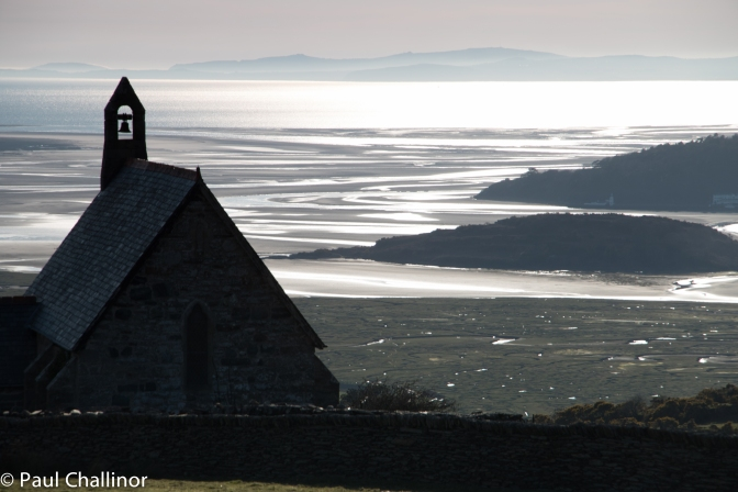 The view towards the sea and the Afon Dwyfor estuary.