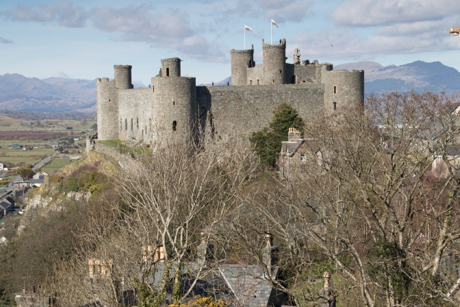 Harlech Castle from the west