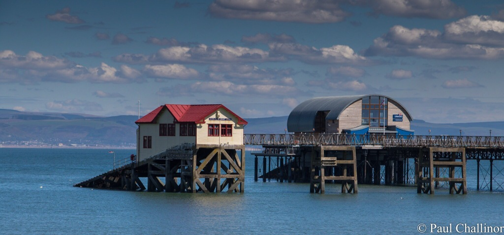 The old life boat station on the left is no longer large enough for the new life boats, and are now launched from the new station on the right.