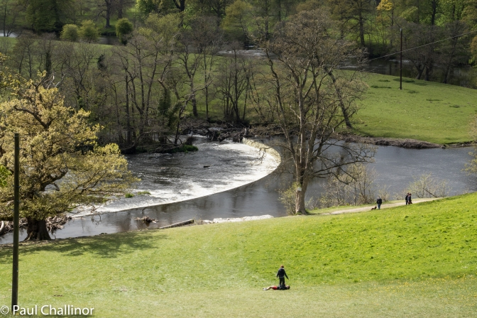 The Horseshoe Falls, where pat of the River Dee is diverted into the Llangollen Canal