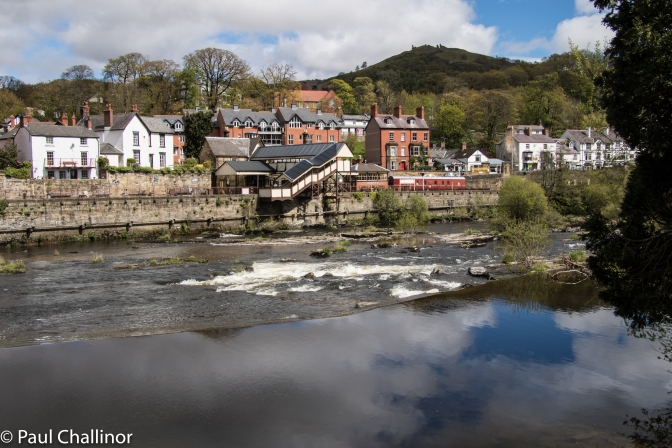 Looking across the River Dee towards Llangollen Station. On the hill behind is Castell Dinas Bran. One day I'll get up there!
