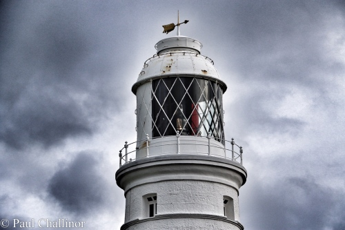 The lantern on the Eastern Lighthouse