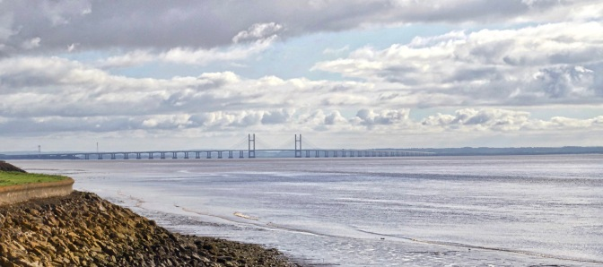 Severn Bridge from Redwick Coast  170402